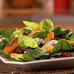 RB-0108 Spinach Salad with Grilled Mediterranean Vegetables
