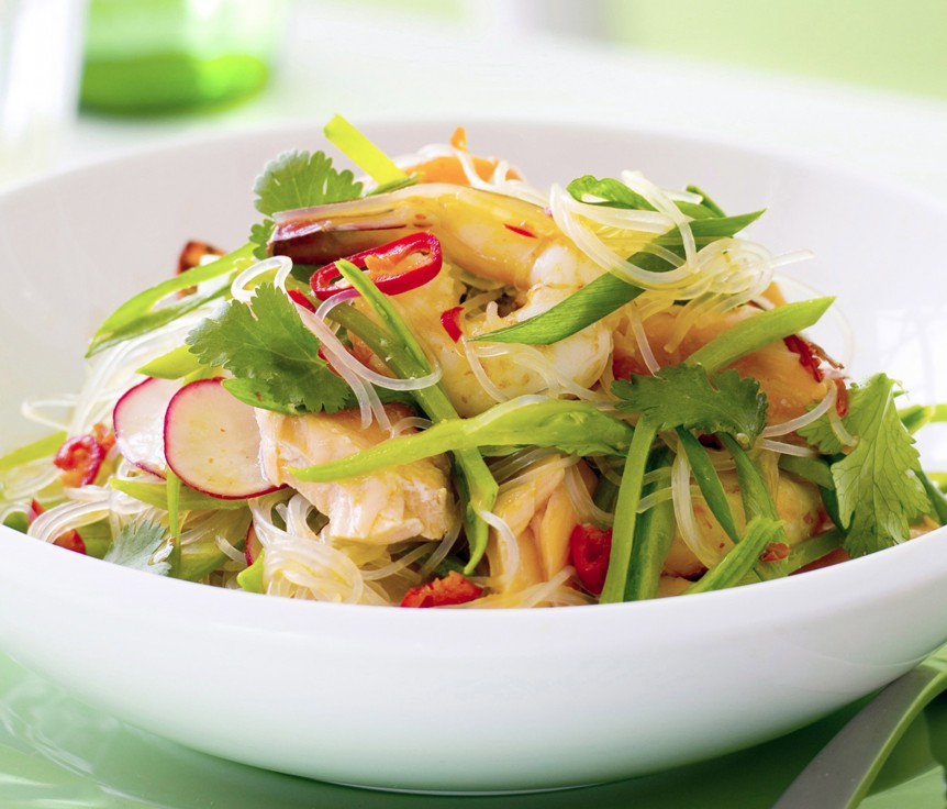 Weeknights - Thai-style Seafood and Rice Vermicelli Salad
